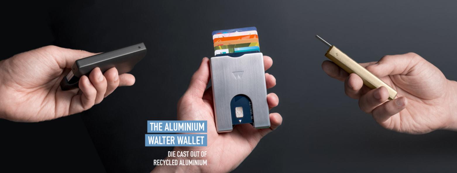 Walter Wallet aluminium