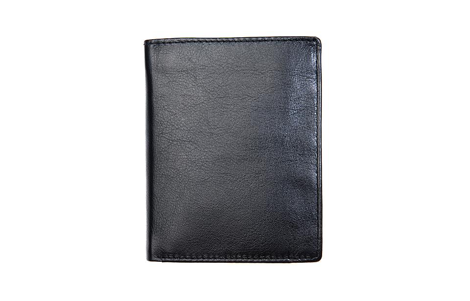 Leather Design- RFID N/S heren portemonnee – black