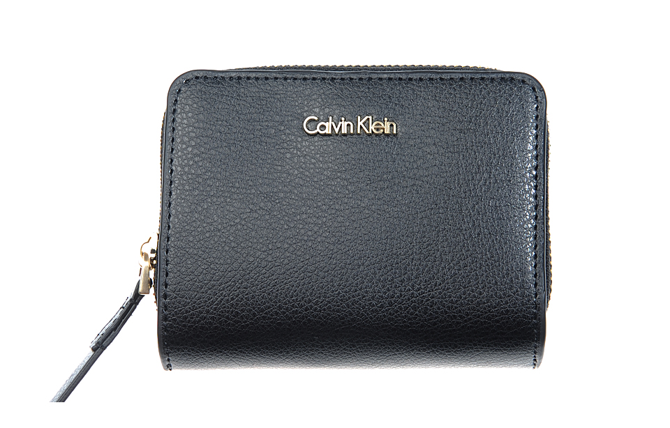 Calvin Klein – Frame – medium ZIP w/ Flap dames portemonnee – black