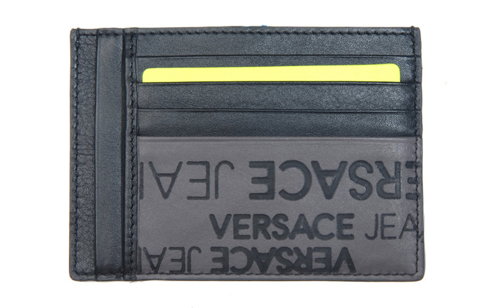 Portemonnee Heren Creditcard.Versace Jeans Linea A Dis 6 Heren Creditcard Wallet Zwart Grijs