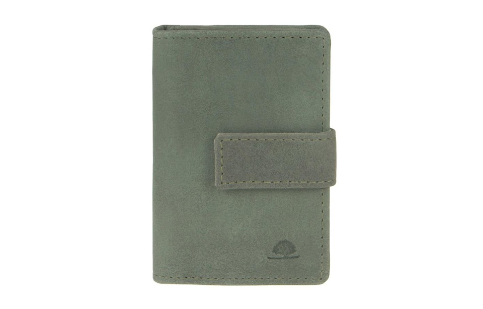 Greenburry – RFID creditcard wallet met moneyclip – green