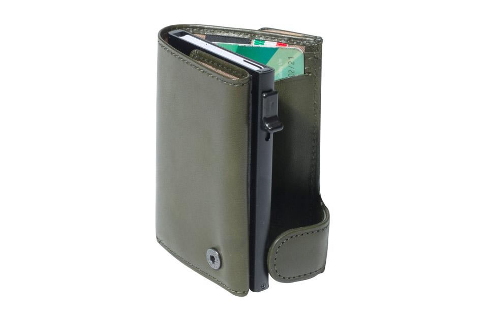 Tony Perotti – Aluminium cardholder met papier- en kleingeldvak – Borneo