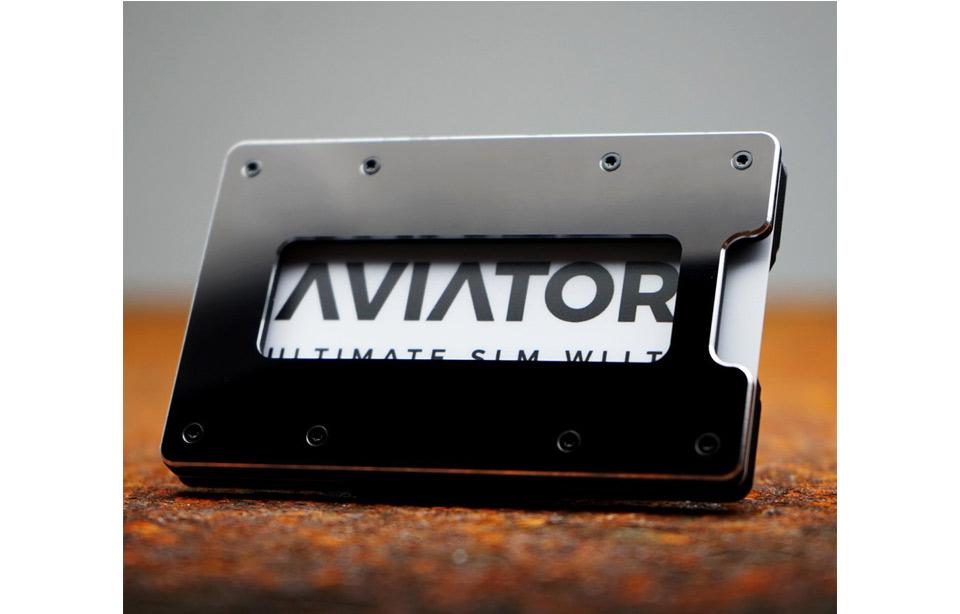 27648456b00 Aviator – ultimate slim RFID wallet – Black Metallic