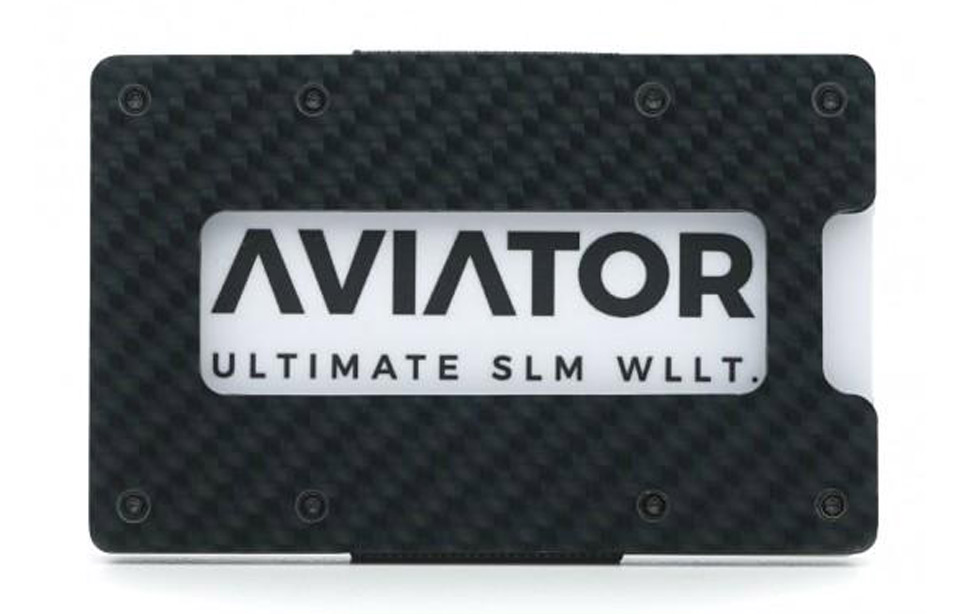 a1eb3ed2ac5 Aviator – ultimate slim RFID wallet – Carbon Edition